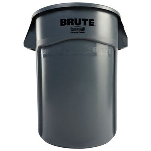 (Rubbermaid Commercial Brute Vented Trash Receptacle, Round, 44 Gallons, Gray (264360GY))
