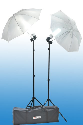 ePhoto Premium Photography Portrait Video Film Studio Continuous Light Lighting Kit Umbrella Stand Lighting Set by ePhoto INC ULS304