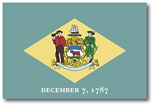 Delaware Car Magnet US State Flag Refrigerator Locker SUV Heavy Duty Waterproof…