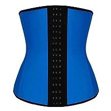 Camellias Women's Classic 3 Hooks Latex Waist Trainer Shapewear Workout Waist Cincher