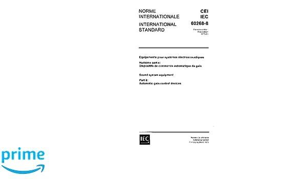 IEC 60268-8 Ed  1 0 b:1973, Sound system equipment  Part 8