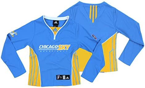 6862110a1a9 Amazon.com : Chicago Sky WNBA Big Girls Long Sleeve Shooting Shirt Top, Sky  Blue : Sports & Outdoors