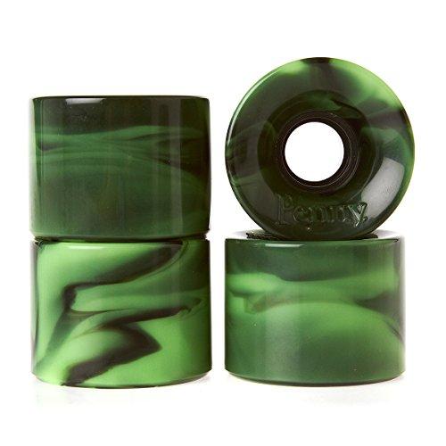 防腐剤シーン符号Penny green-black Swirl – 59 mmスケートボードホイール