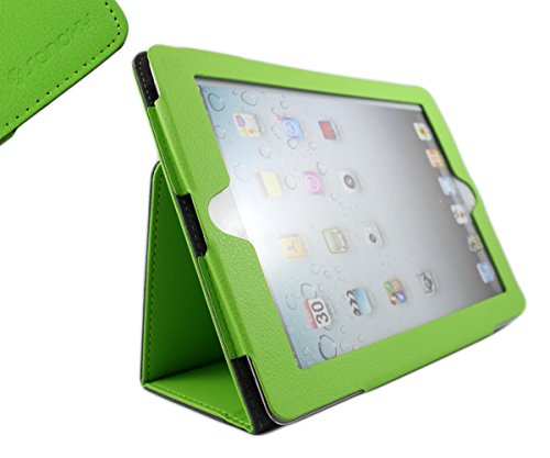 SANOXY Slim FOLIO Folder PU Leather Stand Case for iPad 2/3/4 /ipad 2nd Generation (GREEN)