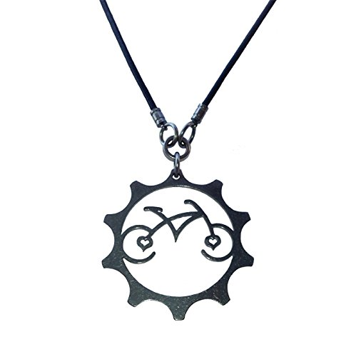 Velo Bling Designs Stainless Steel Bicycle Heart Necklace, 1