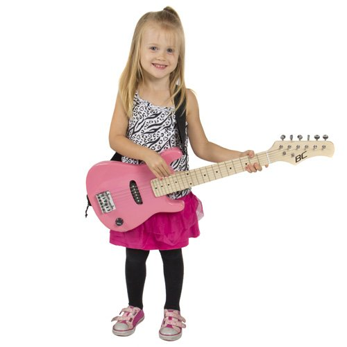 30 kids pink electric guitar with amp much more guitar import it all. Black Bedroom Furniture Sets. Home Design Ideas