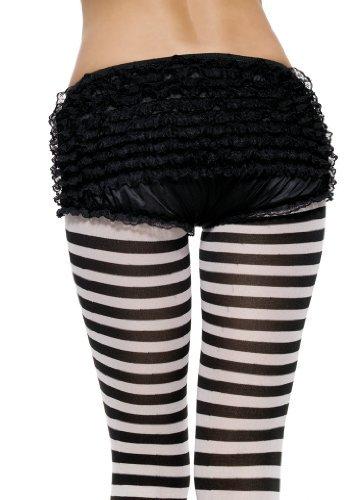 Leg Avenue Junior Ruffle Rhumba Boy Shorts, One Size, White ()