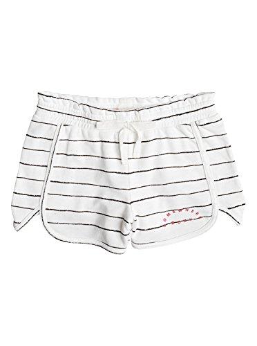 Roxy Girls Call Me Joy - Jersey Shorts - Girls 7-14 - 12 - White Marshmallow Pencil Stripe (Roxy Lightweight Shorts)