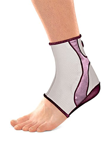 Mueller Life Care Contour Ankle Support, Gel pads for soothing support and comfort, Plum - X-Large