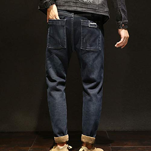 Jeans Pantaloni Colore Uomo Elasticizzati 2 Skinny Rcool Caviglia Stretti Invernali Blue Dark Da 38 Casuale Slim Alla 28 Alfabeto Fit Uomo Denim 7x7Fr
