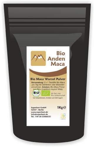 Anden Maca Bio Wurzel Pulver Organic kbA aus Peru, 1er Pack (1 x 1 kg)