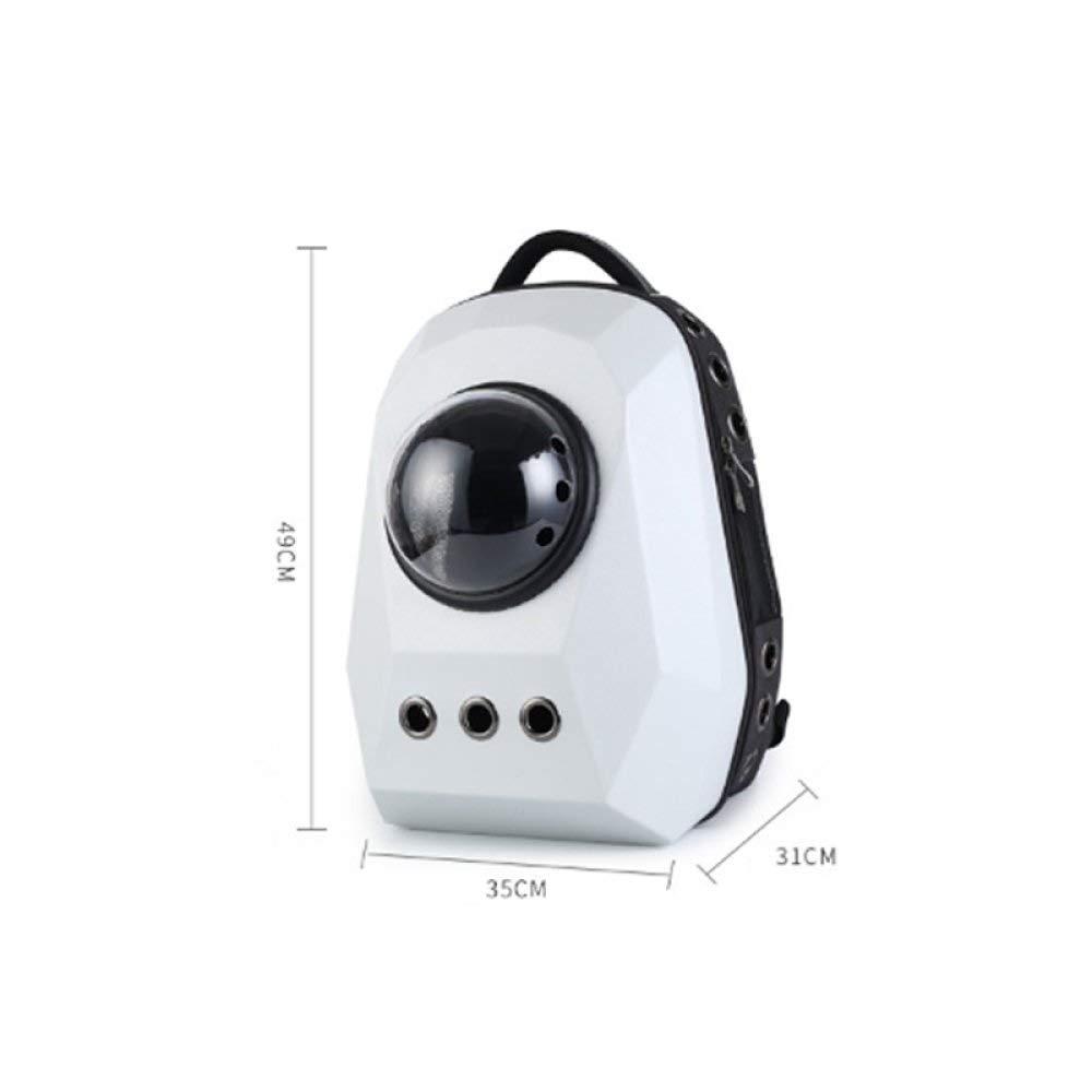 B PETIN Pet Space Backpack Pet Bubble Backpack, Luxury Portable Travel Astronaut Flight BagOutdoor Transport Box Pet Supplies Black (color   B)