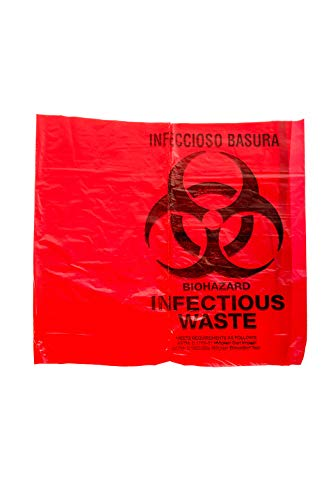 (Bulk Priced Heavy Duty Biohazard Bags by The Roll (10 Gallon) (25 Bags))