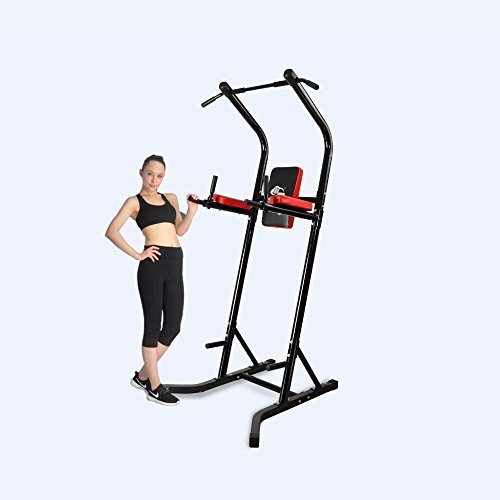 XPH Power Tower Pull Up Dip Station Workout Tower Fitness Station Body Tower Sports Equipment Pull Up Bar Standing Tower Home Fitness Workout Station (black) by XPH
