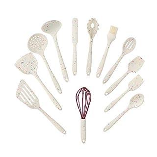 Silicone Cooking Utensil Set,12 Pcs Kitchen Cooking Utensils Set,Silicone Handles Cooking Tools Turner Spatula Spoon - Kitchen Gadgets Cookware Set - Best Kitchen Nonstick Tool Set(BPA Free)-Big
