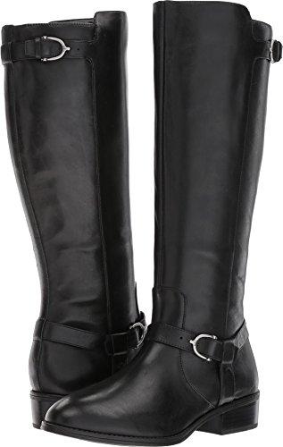 Heels Lauren High (RALPH LAUREN Women's Margarite Wide Calf Black Burnished Calf 5 B US B (M))