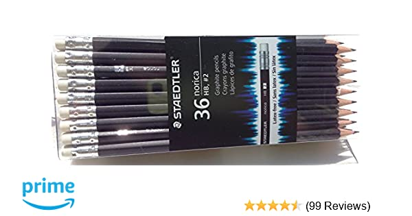 Amazon Staedtler Norica 2 HB Woodcased Pencils Black 36 Pack 1 A Office Products