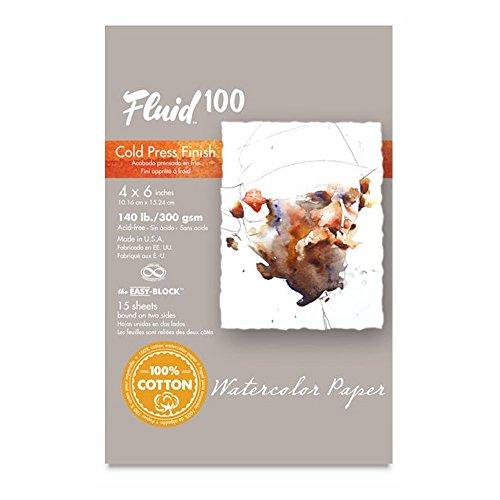 Fluid 100 Watercolor Cp 140Lb Ez-Block 4X6