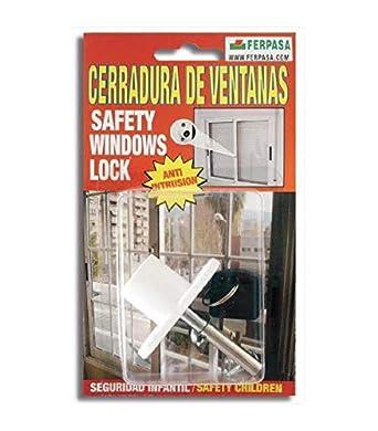 Cerradura de ventanas correderas PACK 6 BLANCO