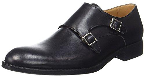 CAMPANILE Men's Loafer Flats Black AFe34O