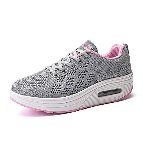 Female Comfortable Autumn Shoes Flying Shoes Woven Casual JIAODANBO 1494474 New Cushion Lightweight ExSq0aRa4