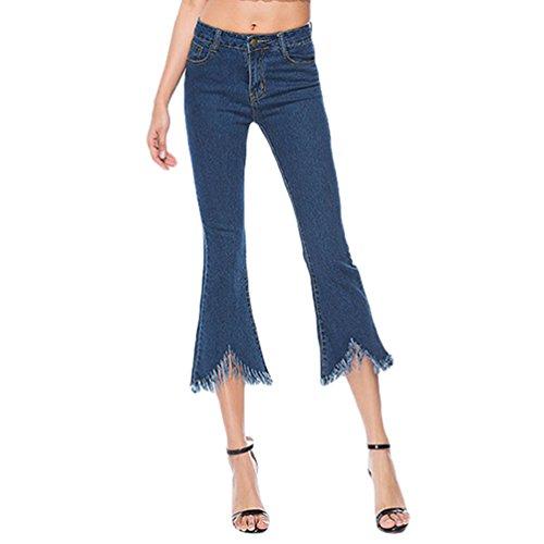 Tassel Slim Evas Pantalon Jeans Taille Taille Kairuun Femmes Extensible Skinny Haute Pantalons Straight wn1qzwZH8v