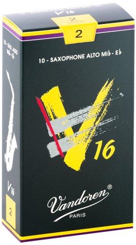 Vandoren SR702 Alto Sax V16 Reeds Strength 2; Box of 10