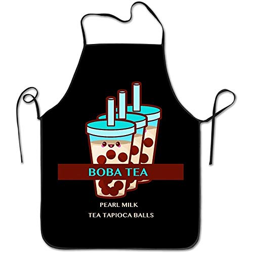 (Dsiempwe Kitchen SuppliesBubble Boba Pearl Milk Tea Tapioca Balls Cooking Aprons Simple Cool Apron)