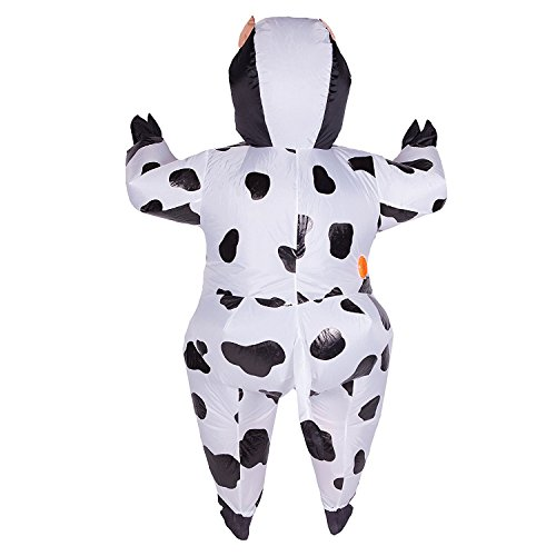 Wecloth Inflatable Cow Suit Costume Halloween Party Cosplay Full Body Dress Spot Dress