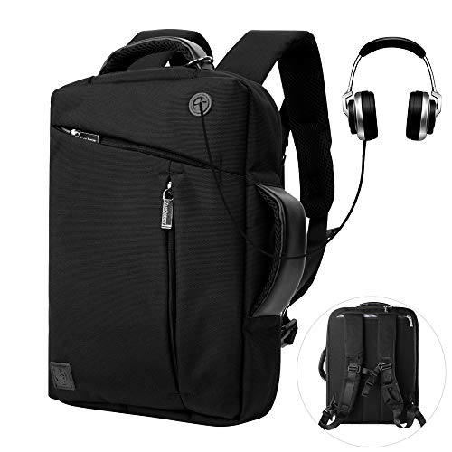 15 Inch Convertible Laptop Backpack Multi Functional Anti Theft Travel Work School College Backpacks for Men Women Boys Girls, Business Backpack for 15.6 inch laptops and Notebook (Black Backpack 15.4' Laptop)