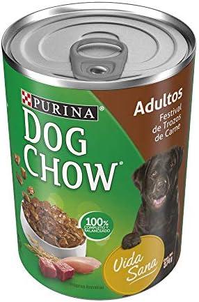 Dog Chow Alimento Húmedo Festival de Trozos de Carne Adultos 12 Latas 3