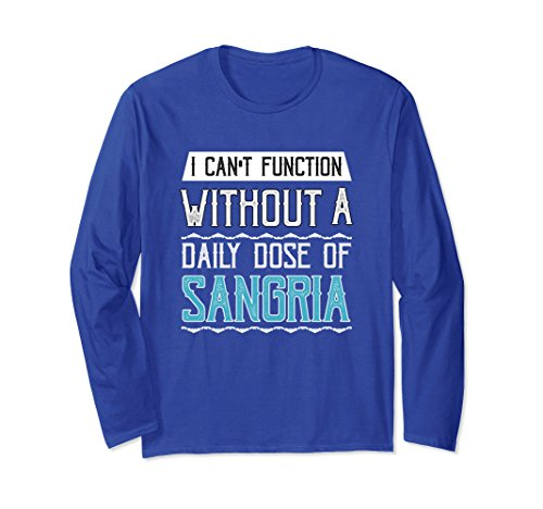 Unisex Daily Dose of Sangria Long Sleeve T-Shirt XL: Royal Blue (Brandy Sangria)