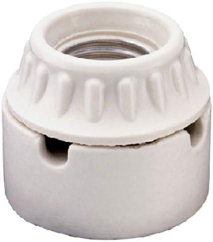 white Pass /& Seymour//Legrand porcelain Legrand 8052CC10 Medium Base Lamp Holder Bracket Mounted 660-watt 250-volt
