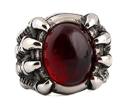 4d4372f26b782a Men Ring Titanium Steel Vintga Classic Red Diamond Ring Fashion man 's ring  Luxury men's
