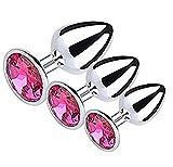 Naughty Cat ™ 3pcs verschiedene Größe Set Edelstahl Diamant Jeweled Entertainment Toy