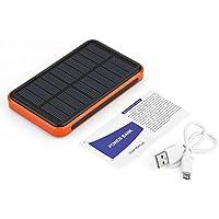 Lovelysunshiny Cargador Solar 50000mAh, batería Impermeable Externa del Banco del Poder portátil con 2 Puertos USB Carga de Alta Velocidad para iPhone, teléfonos Inteligentes Android