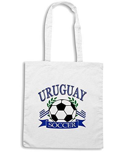 T-Shirtshock - Bolsa para la compra WC0120 URUGUAY LA CELESTE Blanco