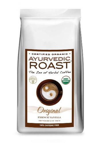 Free Roast Coffee - Ayurvedic Roast Organic Caffeine Free French Vanilla Coffee Substitute by Ayurvedic Roast, 11 oz