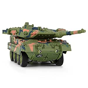 Your Supermart RC Military Model Toy 8020/8021Mini 4CH Remote Control Battle Tank Car