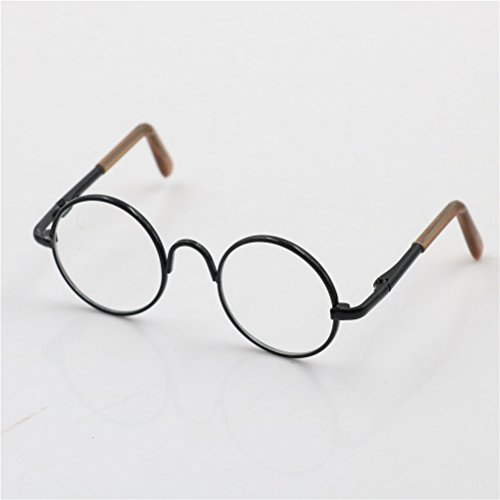 Cute Round Frame Eyeglasses Clear Lens Eyewear for 12