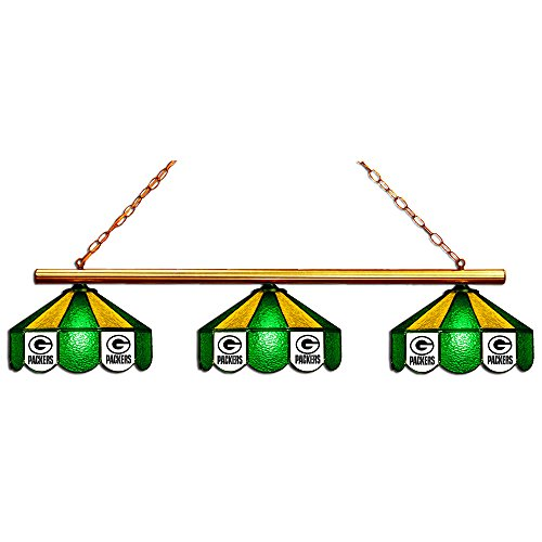 Miller High Life Stained Glass Pool Table Light: Green Bay Packers Pool Table Light, Packers Billiards