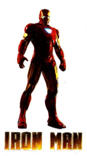 1.75 X 3 inch IRON MAN Anthony Tony Edward Stark armor Stark Industries Disney IRON ON HEAT TRANSFER - Tony Stark Iron