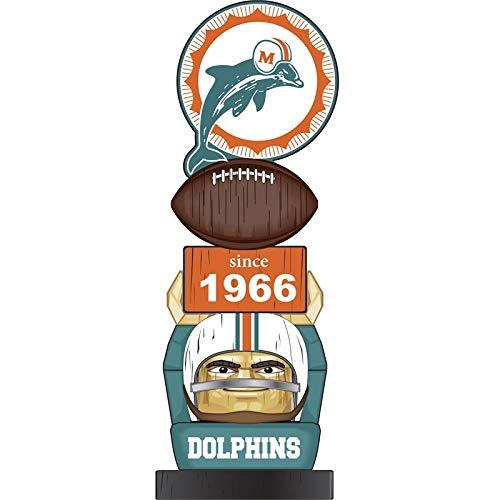 Team Sports America Miami Dolphins Vintage NFL Tiki Totem Statue