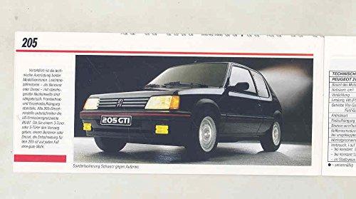 Amazon.com: 1986 Peugeot 205 305 505 J5 Small Brochure German: Entertainment Collectibles