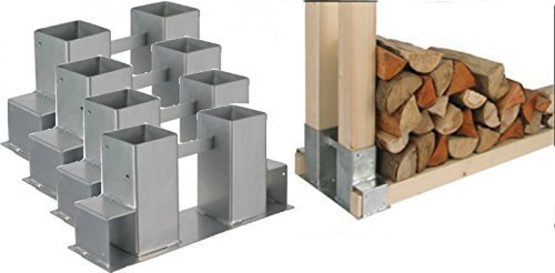 Gravidus Set of 4 Woodpile Holder for Fireplace and Firewood