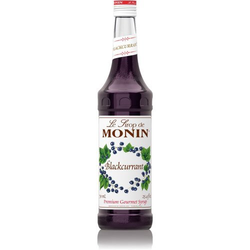 Monin Premium Gourmet Blackcurrant Syrup 750ml Bottle (black currant)