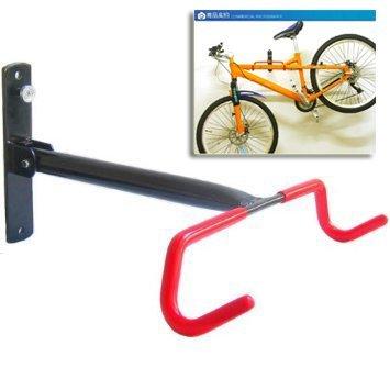 Soporte con gancho de almacenamiento montado en la pared de garaje para bicicleta plegable, 0