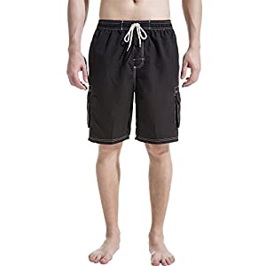 Akula Mens Shorts Swim Trunks with Cargo Pockets