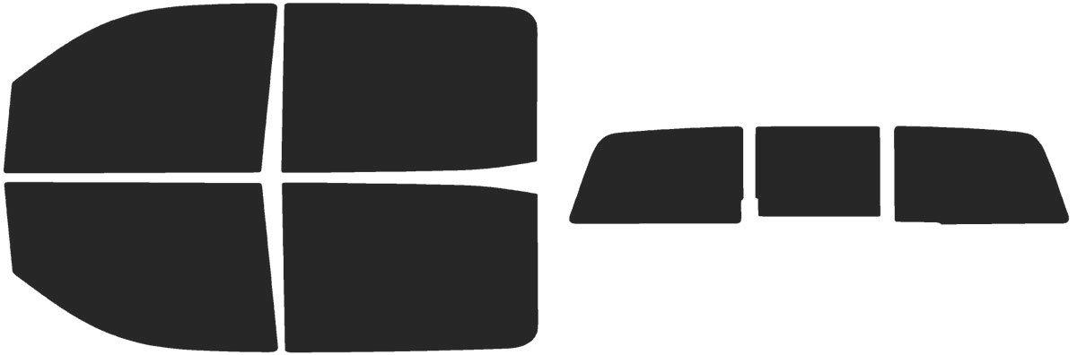 2019 Limited Fits: Chevrolet Silverado 1500 Crew Cab 2014 2015 Includes: Front Windshield Visor precut in 5/% 2016 2018 /& Automotive Window Film 2017 Precut Window Tint Kit