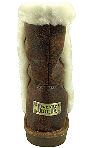 Ankle DK Fashion Lined Boots Fur 3 Chocolate Ladies Suede Warm Faux Winter Size LB8931 8 8wIOOXxB
